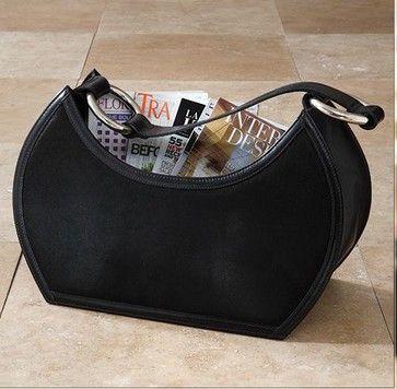 Black Magazine Holder traditional-magazine-racks