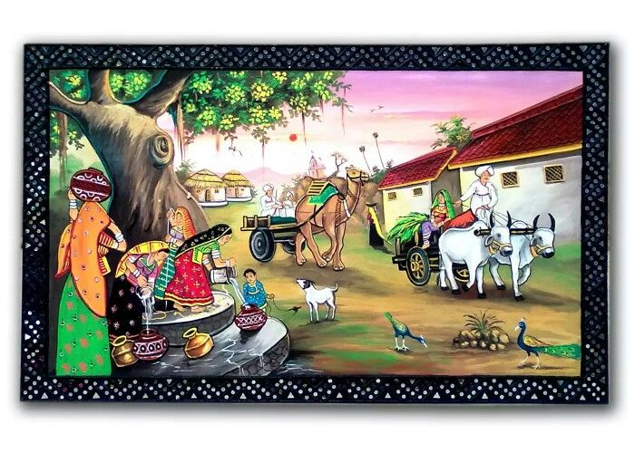 1000 images about mural indian village life examples on for Mural examples