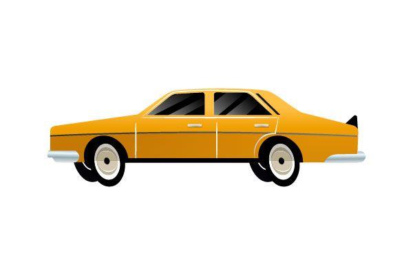 Yellow car vector #yellowcar #vector #vectorpack http://www.vectorvice.com/cars-vector