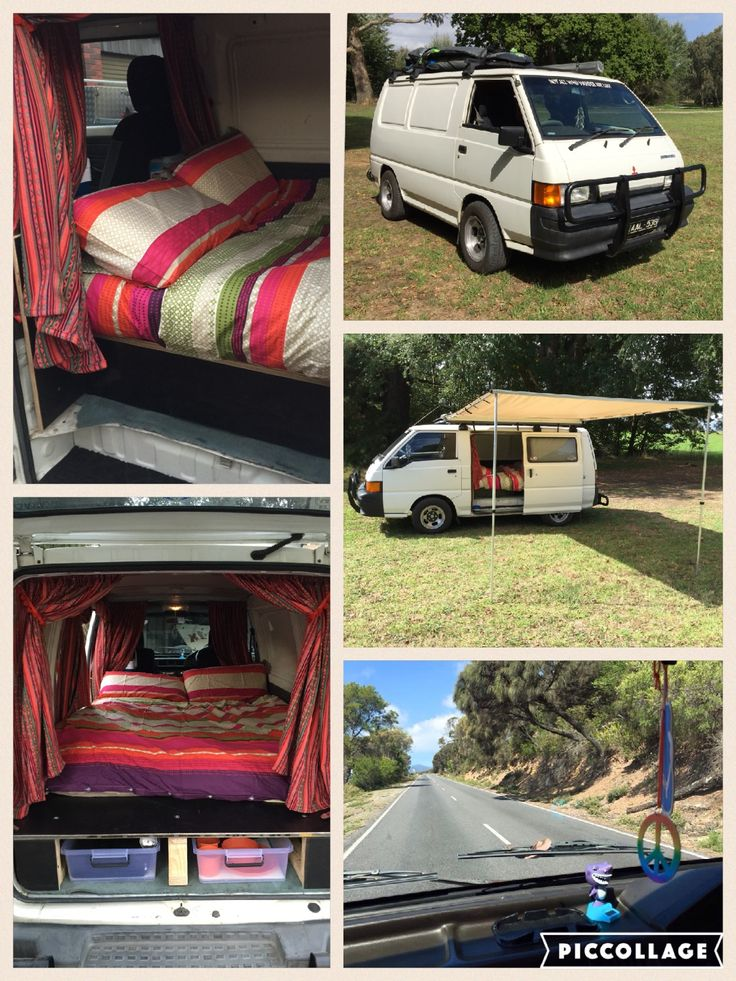 Mitsi, our Mitsubishi Express Van - refit done ourselves including everything you would need for a comfortable road trip. Love her
