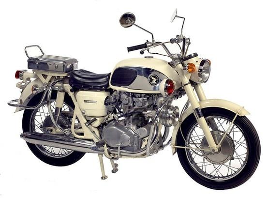 Vintage Honda Police Motorcycle