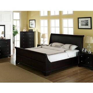 Abbyson Kingston Espresso Sleigh California King size Bed