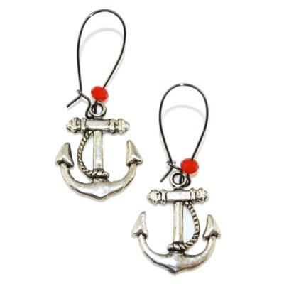 Anchor Earrings - TOODLEBUNNY