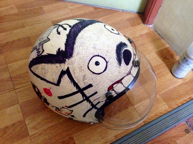 Totoro helmet doodling