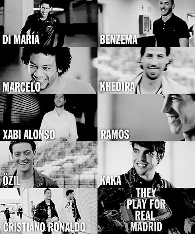Real Madrid <3 love them all :)