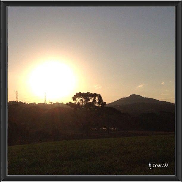 Por do sol em Campo Largo