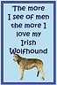 For Irish Wolfhound owners - low price gifts from £0.99p - 200 other breeds too!