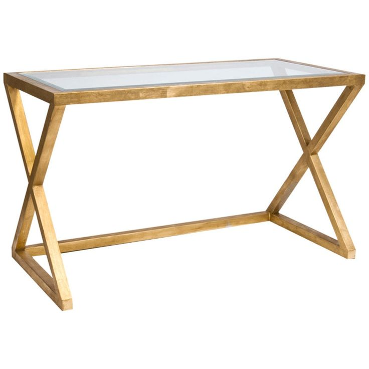 Information: Worlds Away Mark Desk  Features: Worlds Away features the Mark desk with a beveled glass top. Available in gold leaf or nickel plated finish. This