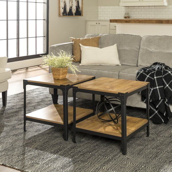 Cainsville End Table Set In 2020 Furniture Coffee Table Rustic End Tables