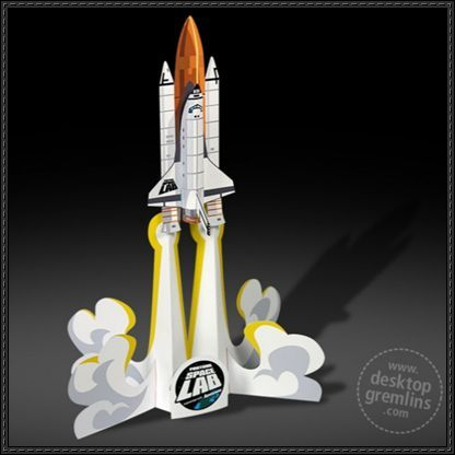 YouTube Space Lab Space Shuttle Free Paper Toy Download - http://www.papercraftsquare.com/youtube-space-lab-space-shuttle-free-paper-toy-download.html