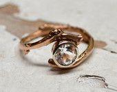 Elemek hasonló Custom Natural Rose Cut Fekete gyémánt eljegyzési gyűrű, divat, globális kézzel és vintage piacon.