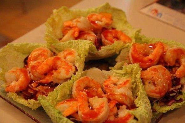 Креветки под тайским соусом