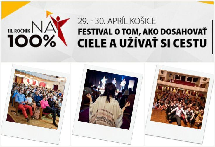 Miestom, kde sa spojí off-line a online, biznis a duchovno, hudba a slovo, je festival osobného rozvoja NA 100% v Košiciach. Miestom, kde sa Ti rozšíri obzor z rôznych oblastí, aby si sa stal lepším partnerom, rodičom, podnikateľom