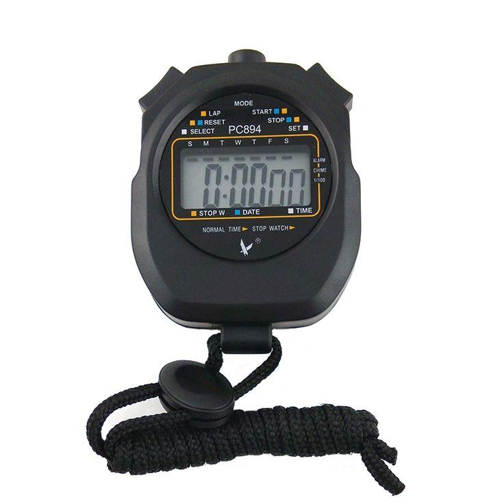 Hand-held Portable Single Row 2 Memories LCD Digital Countdown Stopwatch