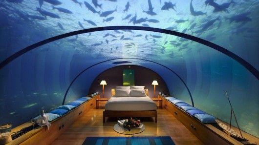 Maldives Rangali Islands Resort Underwater Hotel Room   Travel with www.indiaoffbeat.com or www.outjourneys.com