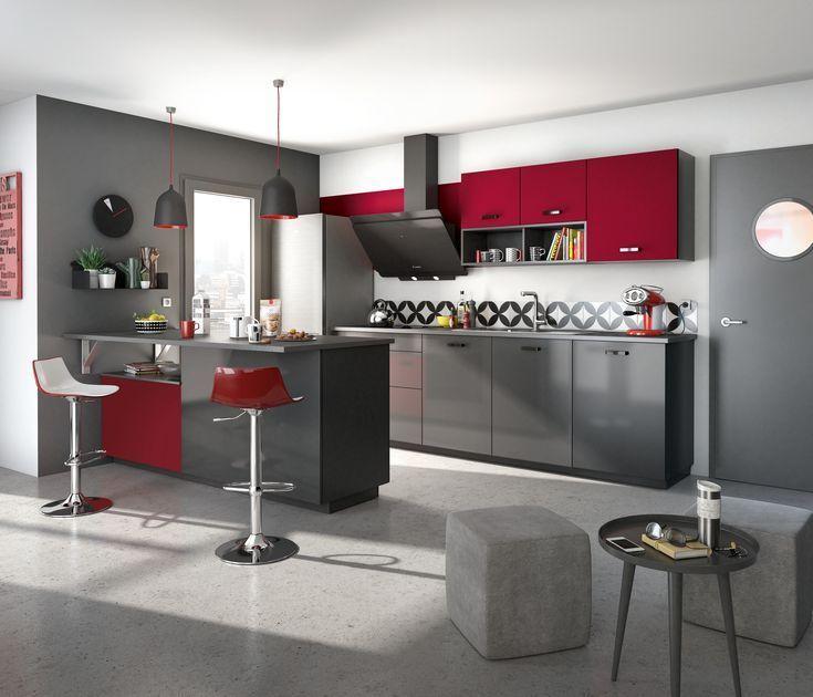 Cuisine Ouverte Avec Espace Bar En Transition Sur Le Salon Avec