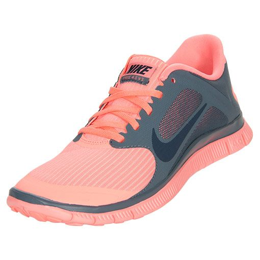 Women's Nike Free 4.0 V3 Running Shoes | FinishLine.com | Atomic Pink/Armory