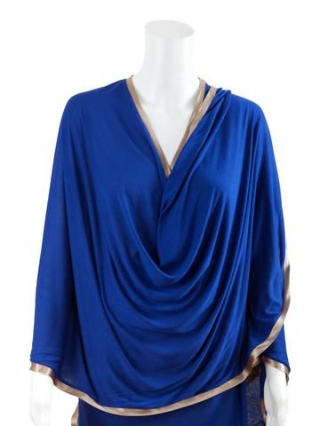 Cobalt blue Modal Nursing Cover