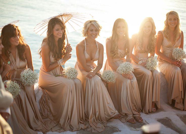 Real bride Eris's stunning bridesmaids www.weddedwonderland.com