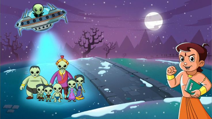 Chhota Bheem Aliens Hindi Games for Children this time to save Dholakpur...