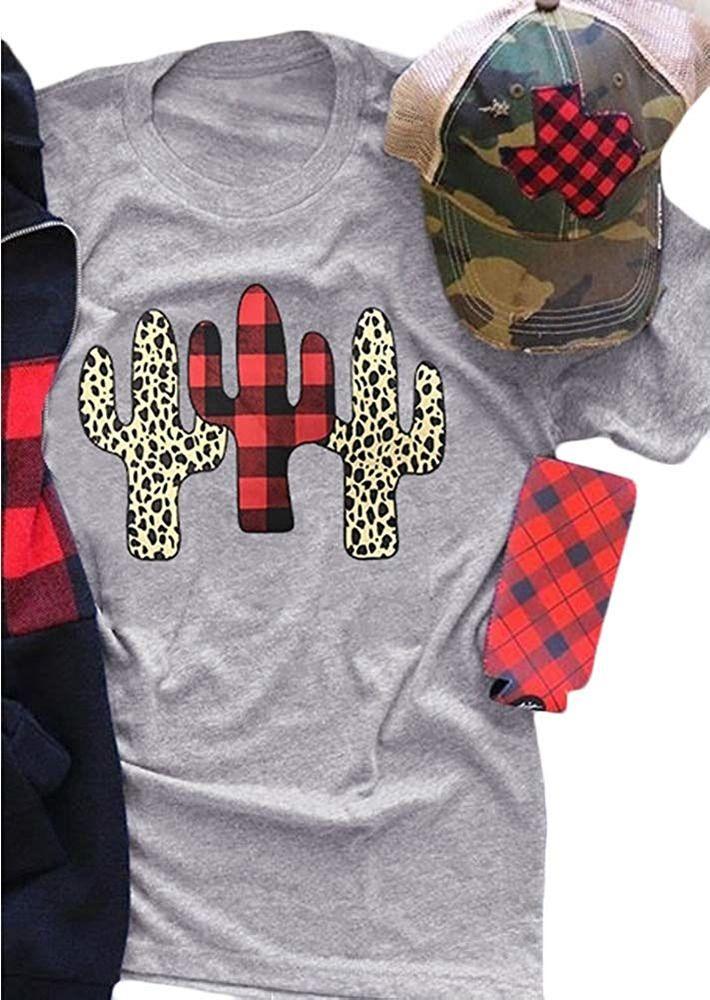 T-Shirt Cute Cactus 3D Print Short Sleeve Top Tees for Boys Girls Funny Novelty