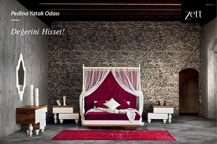 Her ayrıntısıyla büyüleyen Pedina Yatak Odası ile evinizi saraya dönüştürün! www.zettdekor.com