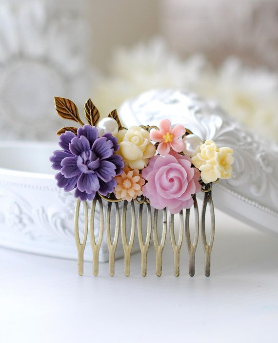 Hey, I found this really awesome Etsy listing at https://www.etsy.com/listing/159283124/purple-lilac-ivory-pink-flower-bridal