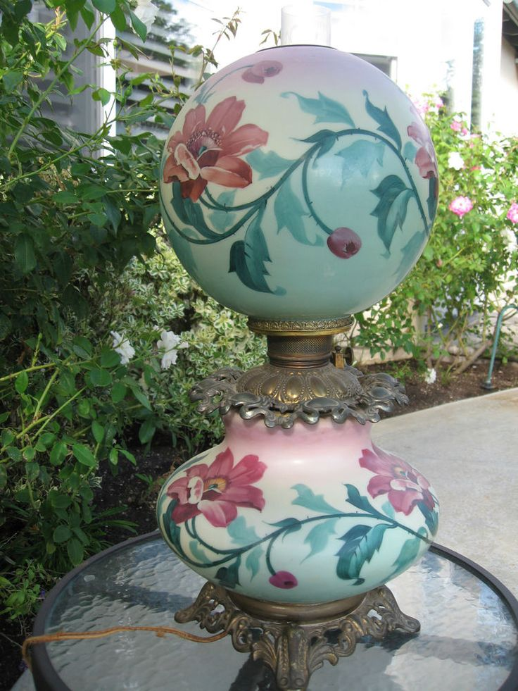 1000 Images About Antique Gone With Wind Lamps On Pinterest