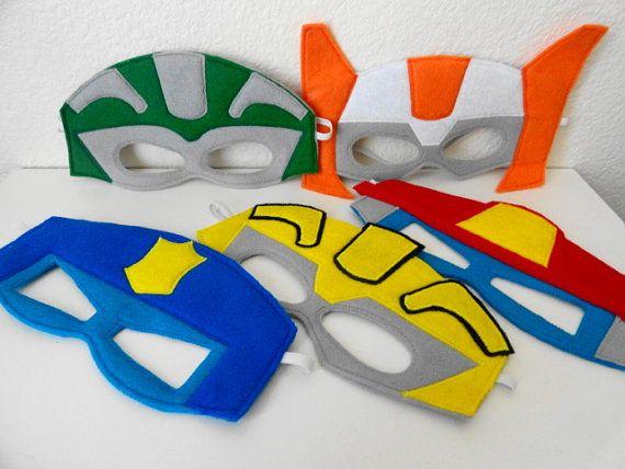 Paquete fiesta de la máscara de Robot de por JulieMarieKids en Etsy