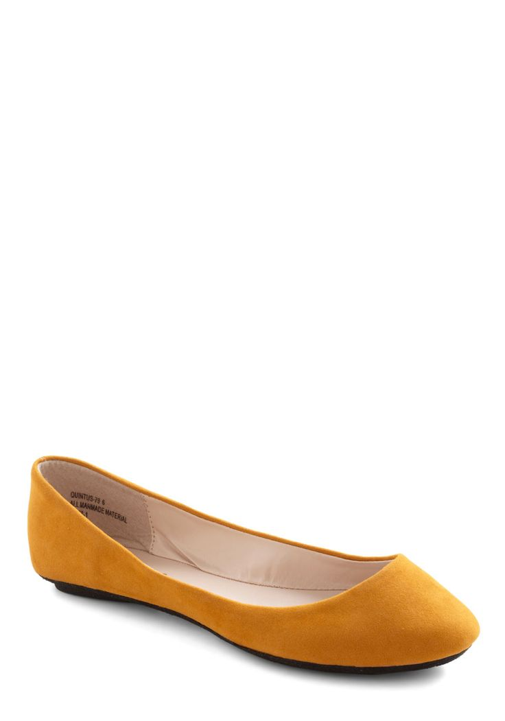 Maize and Nights Flat - Yellow, Solid, Casual