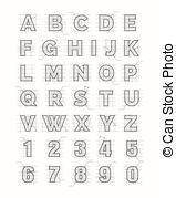 alfabeto, papel, esboçar