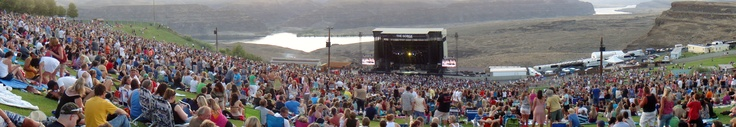 Journey Concert at the The Gorge Amphitheatre.  My panoramic view