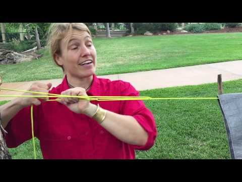 Camping, Bushcraft Knot How To Tie The Exploding Farimond Friction Hitch - YouTube