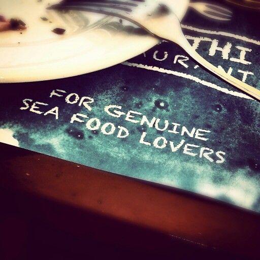 Sea food photography