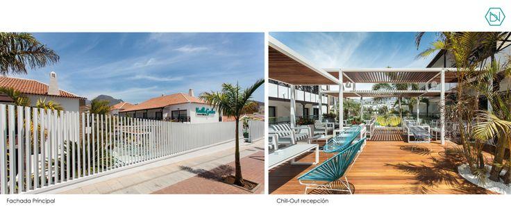 Reforma Vanilla Garden Hotel.Tenerife. Refurbishment Vanilla Garden Hotel.Tenerife www.bn-arquitectos.com #Hotel #refurbishment #reforma #arquitectos #interiorismo #diseñodeinteriores #iluminacion #tropical #pool #design #interiordesign #facade #fachada #midcenturystyle