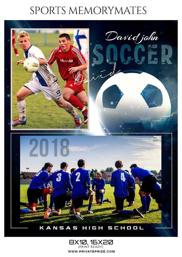 David John Soccer Memory Mate Photoshop Template Soccer Photoshop Photoshop Template