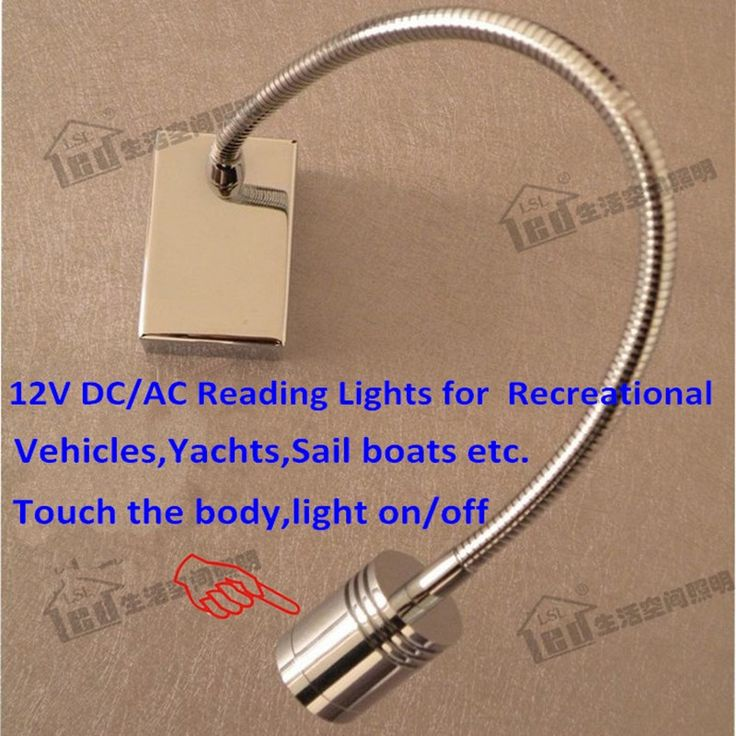 27.99$  Buy now - http://alikge.shopchina.info/go.php?t=32335514237 - Touch Lamps Bedside 12V/Used in Recreational Vehicles,Yachts,Sail boats etc/Touch the body to control light on&off/CREE LED 3W  #buyonline