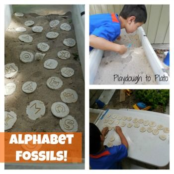 Fun way to teach kids alphabet letters. {Playdough to Plato}