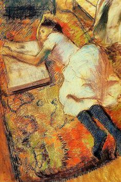 """A Long Time Alone"", Edgar Degas / op"