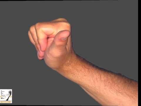 Auto-rééducation de la main droite - YouTube