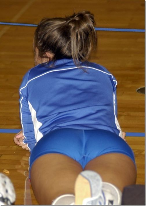 Volleyball woman anus hole