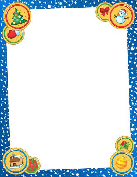 Printable Christmas cookie border. Free GIF, JPG, PDF, and PNG downloads at http://pageborders.org/download/christmas-cookie-border/. EPS and AI versions are also available.