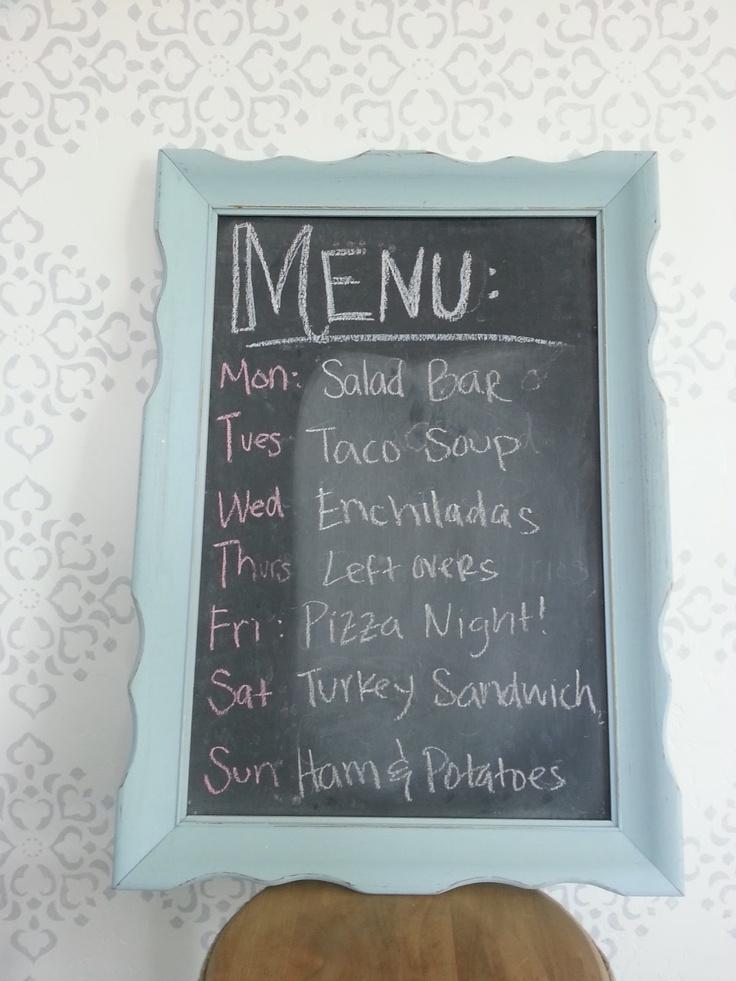 Easy menu board tutorial.