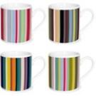 4 espresso kopjes van ESPRESSO time: gekleurde strepen. Een leuk cadeautje of voor jezelf...