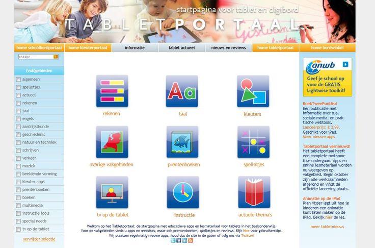 Tabletportaal.nl:alle eduapps voor het basisonderwijs