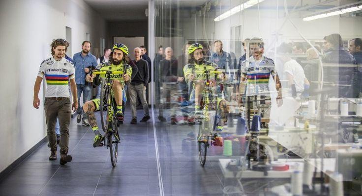 Peter Sagan and Vittorio Brumotti visit Sportful headquarters - Tinkoff Saxo