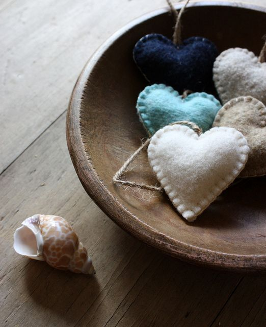 Stuffed heart craft...