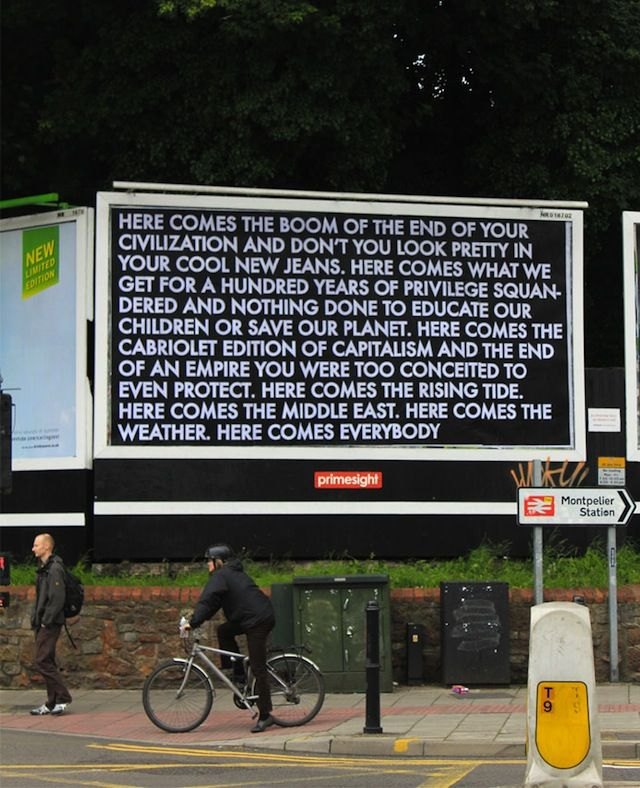 the Brandalism project / Robert Montgomery