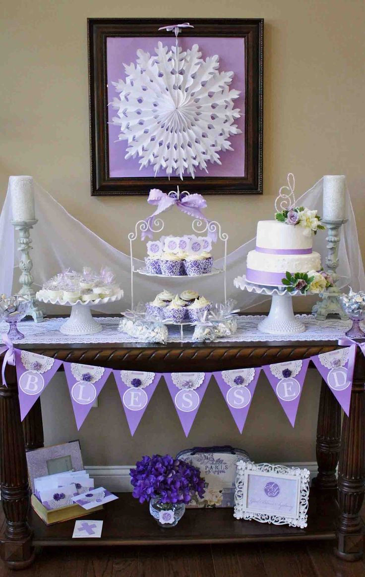 Cake on the console table