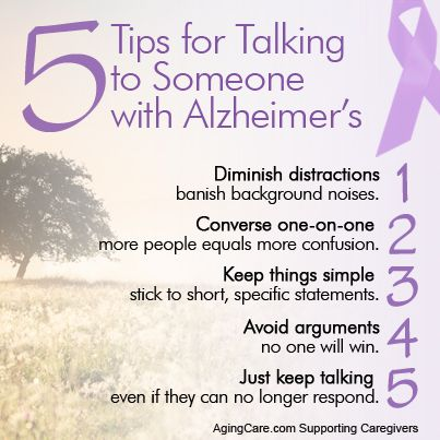 Click on the link below to discover all 10 Tips for Talking to Someone With Alzheimer's...  http://www.agingcare.com/153899